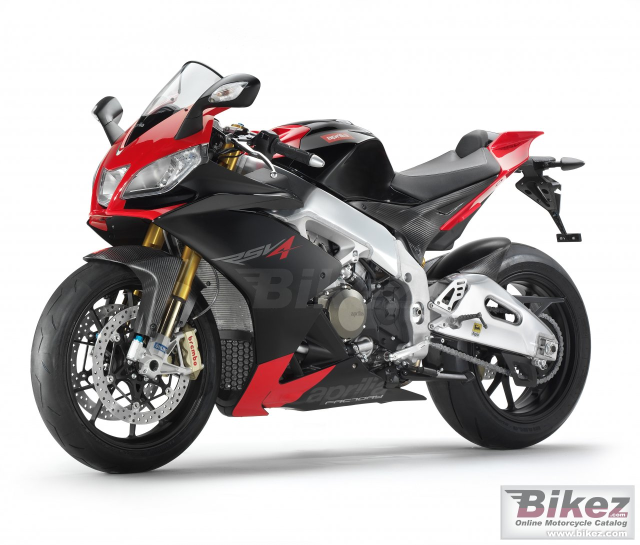 Big Aprilia rsv4 factory picture and wallpaper from Bikez.com