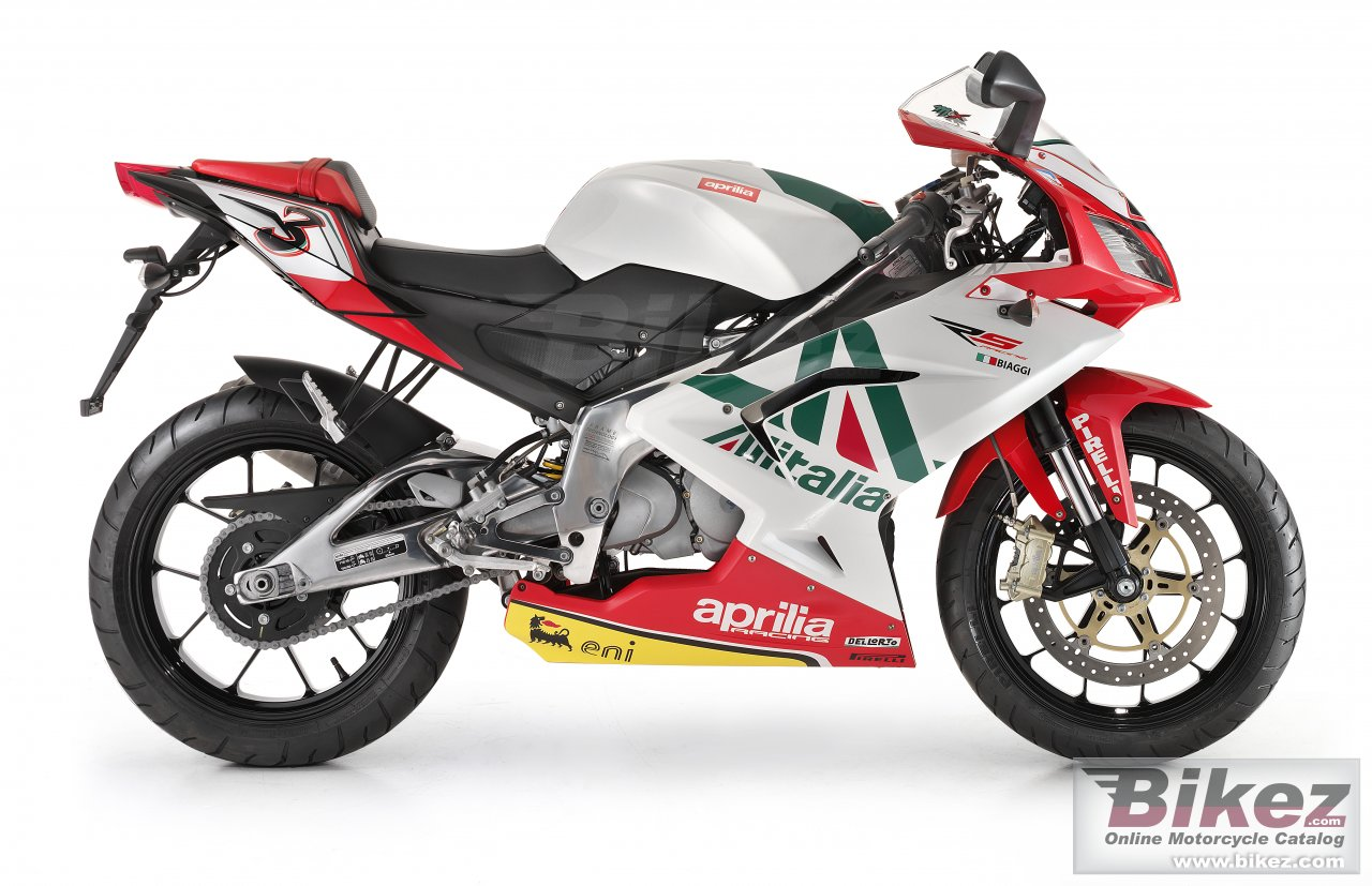 Big Aprilia rs 125 replica alitalia picture and wallpaper from Bikez.com