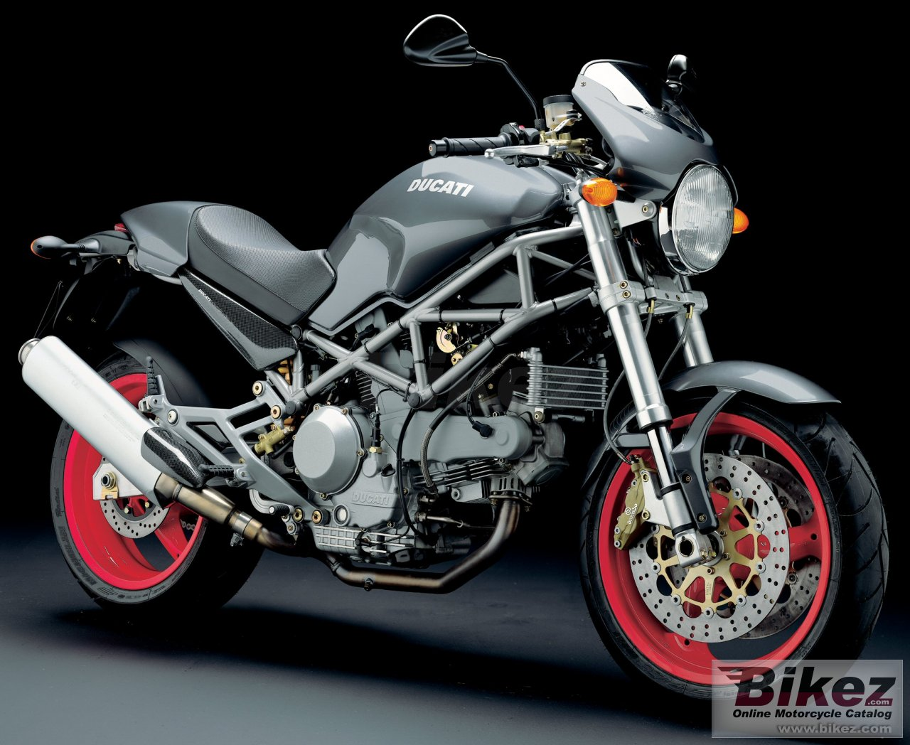 Big Ducati monster 1000 s picture and wallpaper from Bikez.com