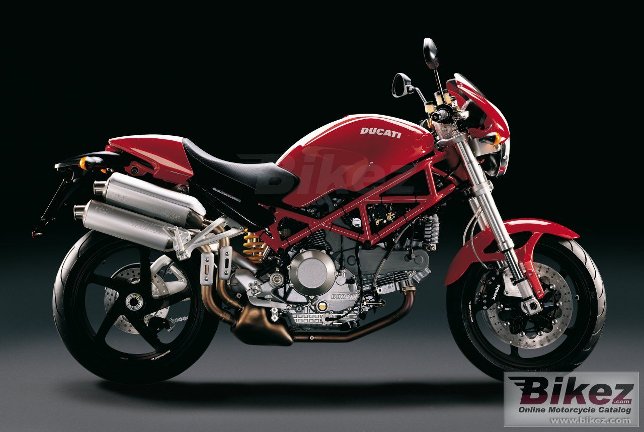 Big Ducati monster s2r 1000 picture and wallpaper from Bikez.com
