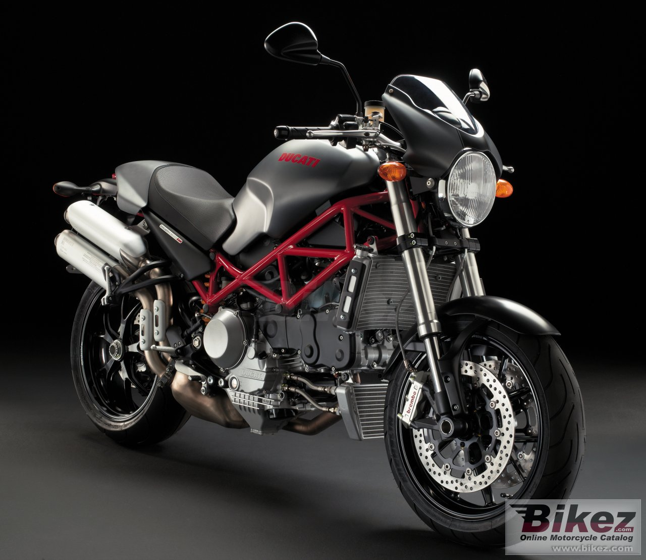 Big Ducati monster s4r testastretta picture and wallpaper from Bikez.com