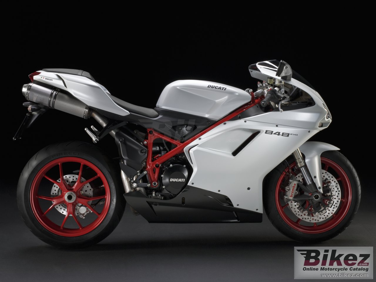 Big Ducati superbike 848 evo picture and wallpaper from Bikez.com