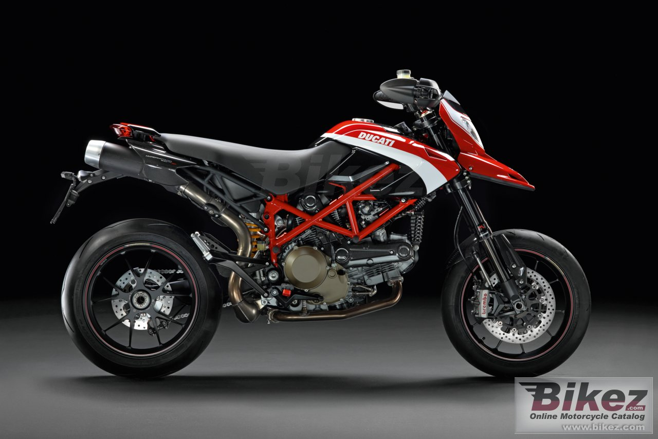 Big Ducati hypermotard 1100 evo corse picture and wallpaper from Bikez.com