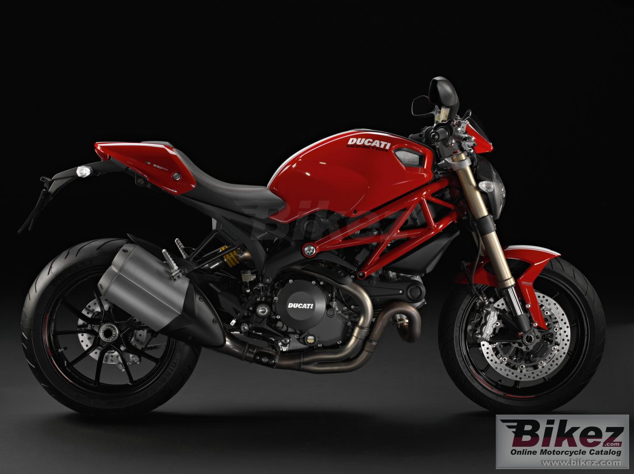 Big Ducati monster 1100 evo picture and wallpaper from Bikez.com