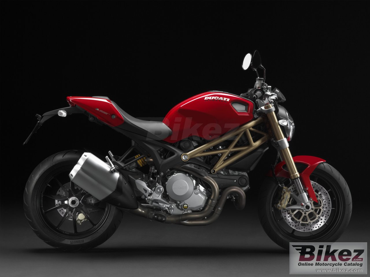 Big Ducati monster 1100 evo 20th anniversary picture and wallpaper from Bikez.com