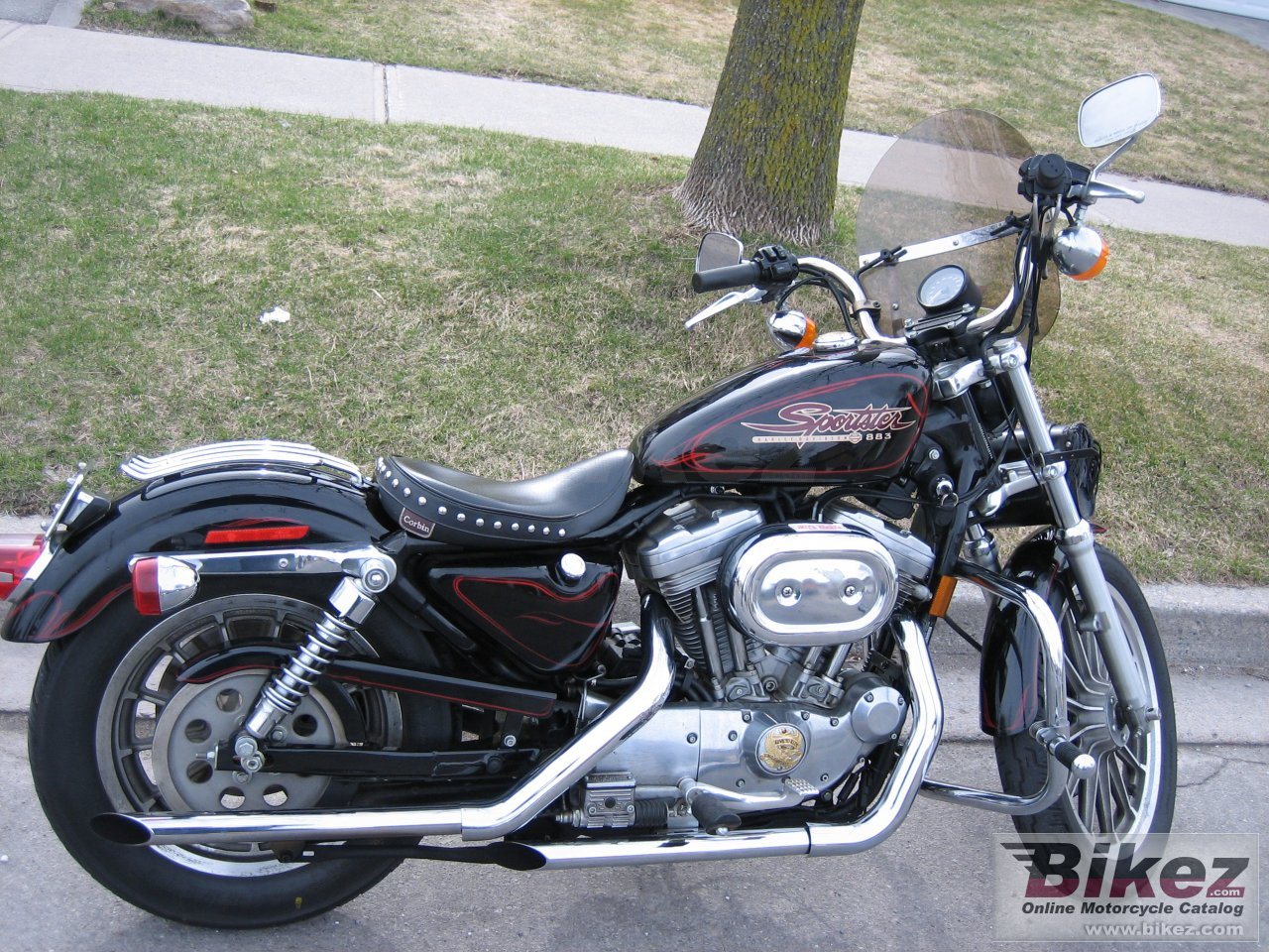 Big  883 sportster hugger picture and wallpaper from Bikez.com