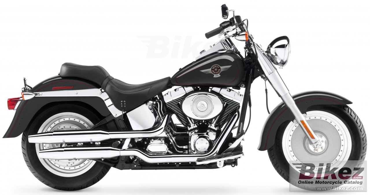 Big Harley-Davidson flstfi softail fat boy picture and wallpaper from Bikez.com