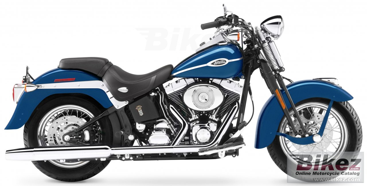 Big Harley-Davidson flstsci softail springer classic picture and wallpaper from Bikez.com