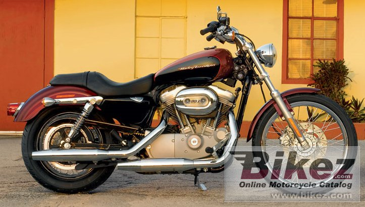 Big Harley-Davidson xl 883c sportster 883 custom picture and wallpaper from Bikez.com