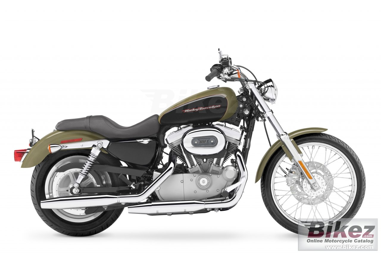 Big Harley-Davidson xl883c sportster custom picture and wallpaper from Bikez.com