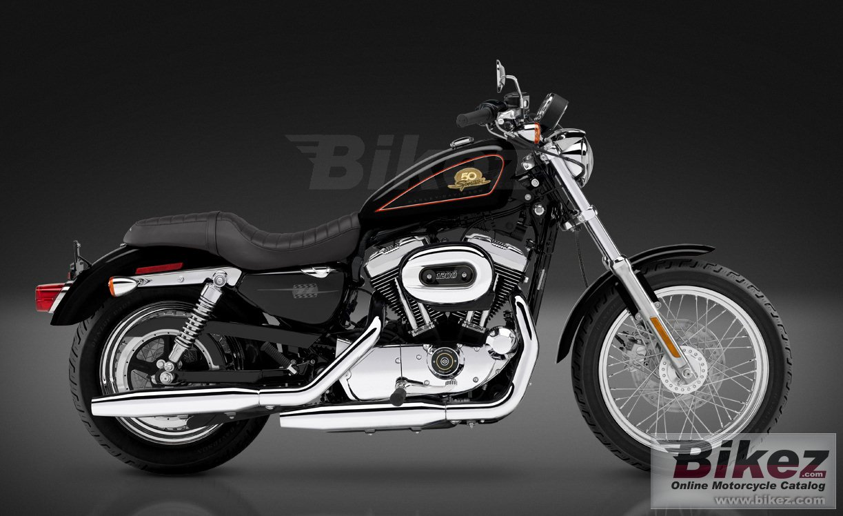 Big Harley-Davidson xl50 50th anniversary sportster picture and wallpaper from Bikez.com