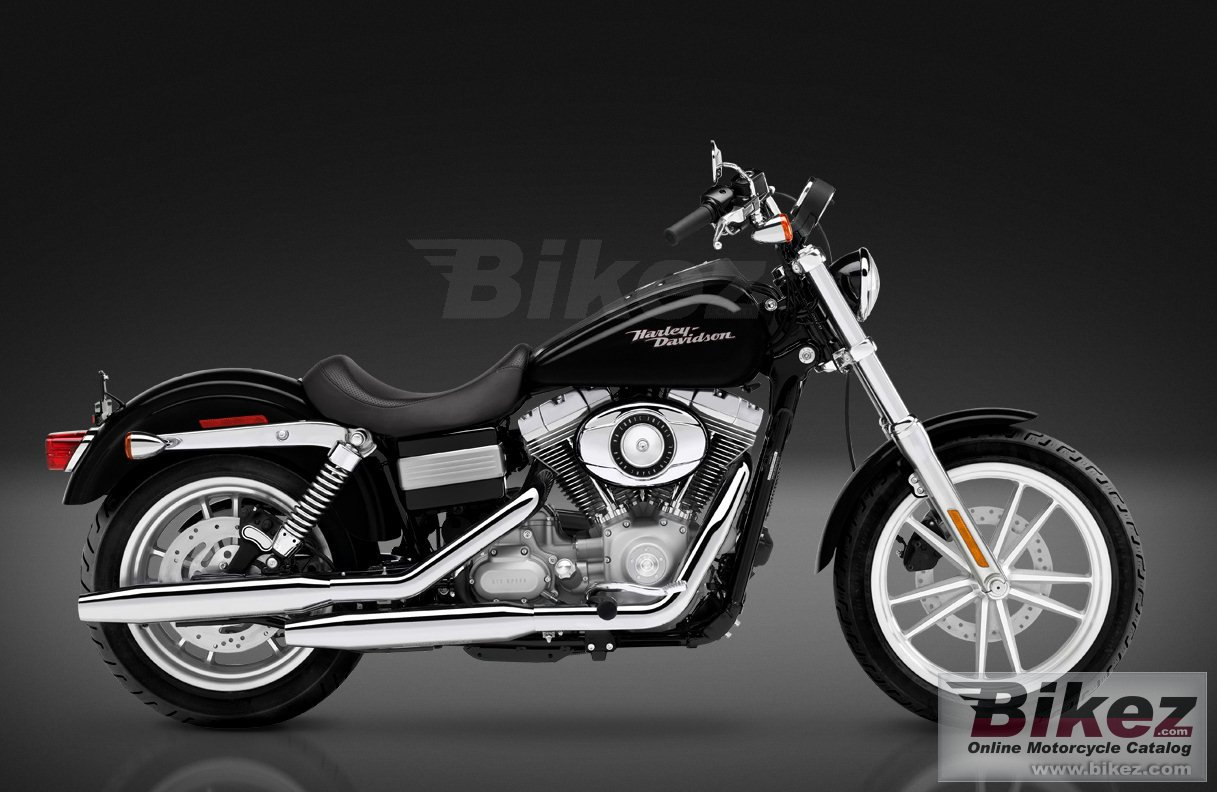 Big Harley-Davidson fxd dyna superglide picture and wallpaper from Bikez.com