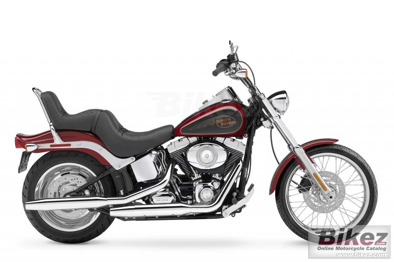 Big Harley-Davidson fxstc softail custom picture and wallpaper from Bikez.com
