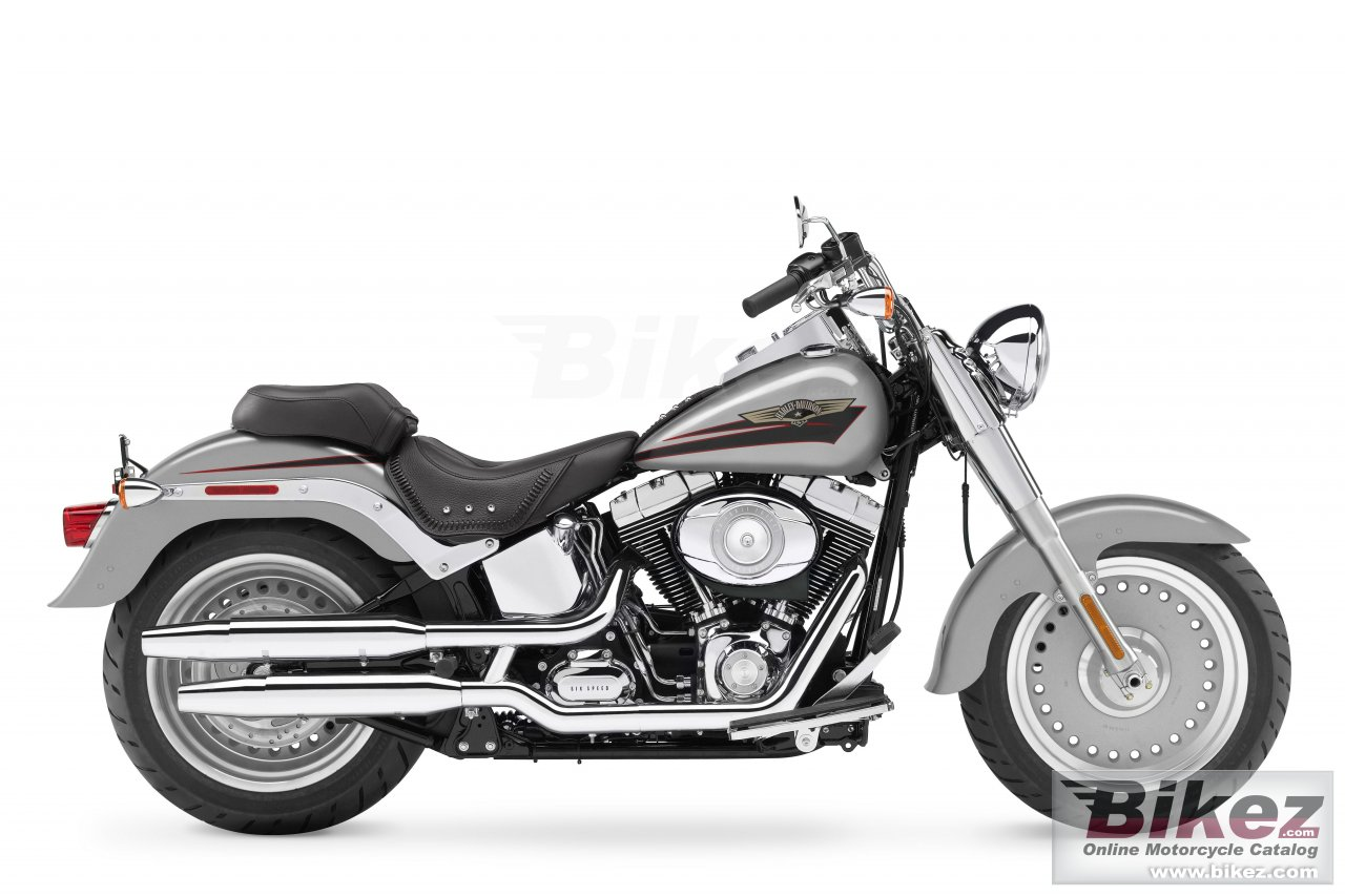 Big Harley-Davidson flstf softail fat boy picture and wallpaper from Bikez.com