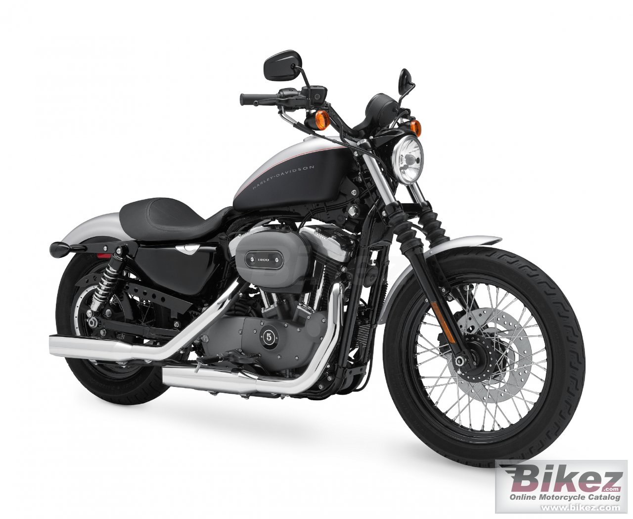 Big Harley-Davidson xl 1200n sportster 1200 nightster picture and wallpaper from Bikez.com