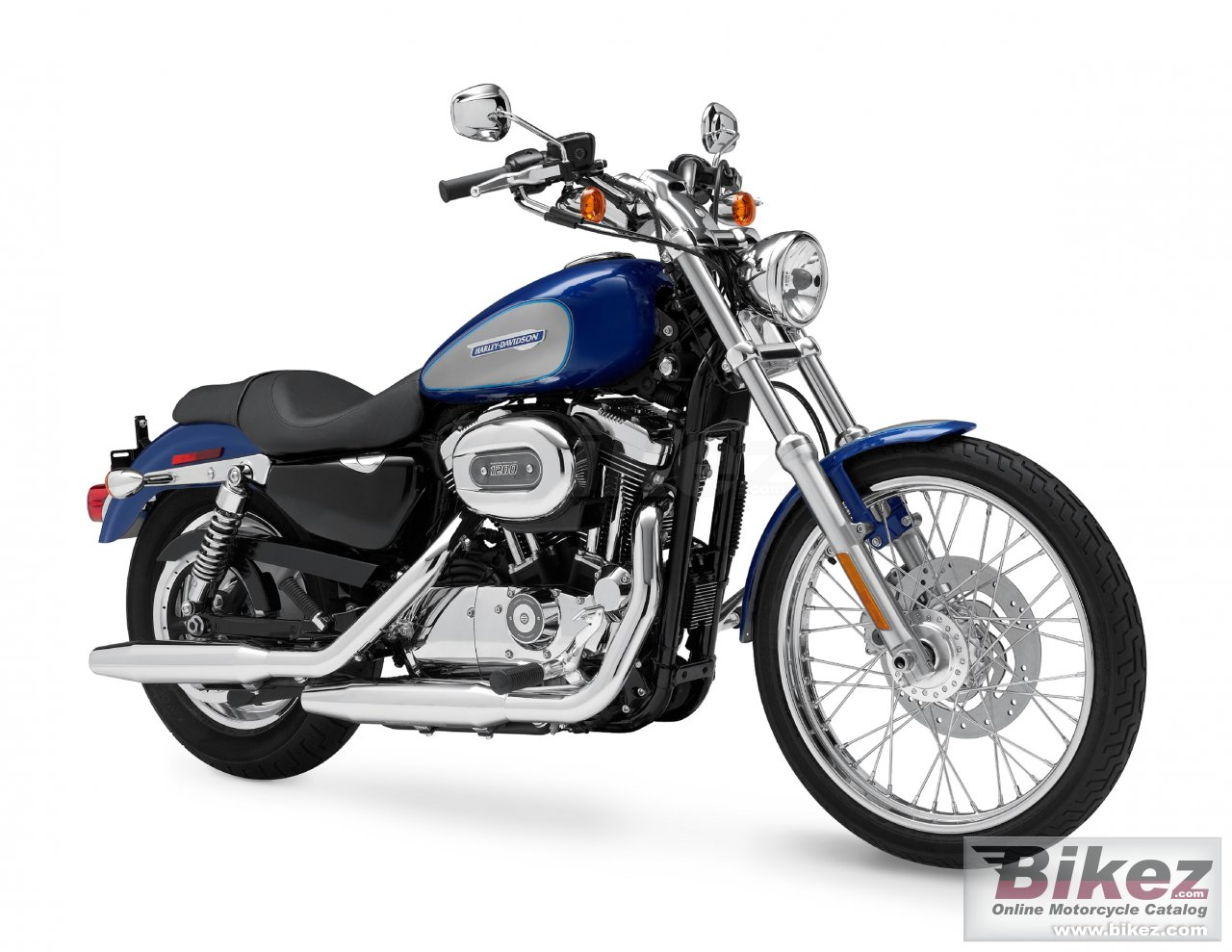 Big Harley-Davidson xl 1200c sportster 1200 custom picture and wallpaper from Bikez.com