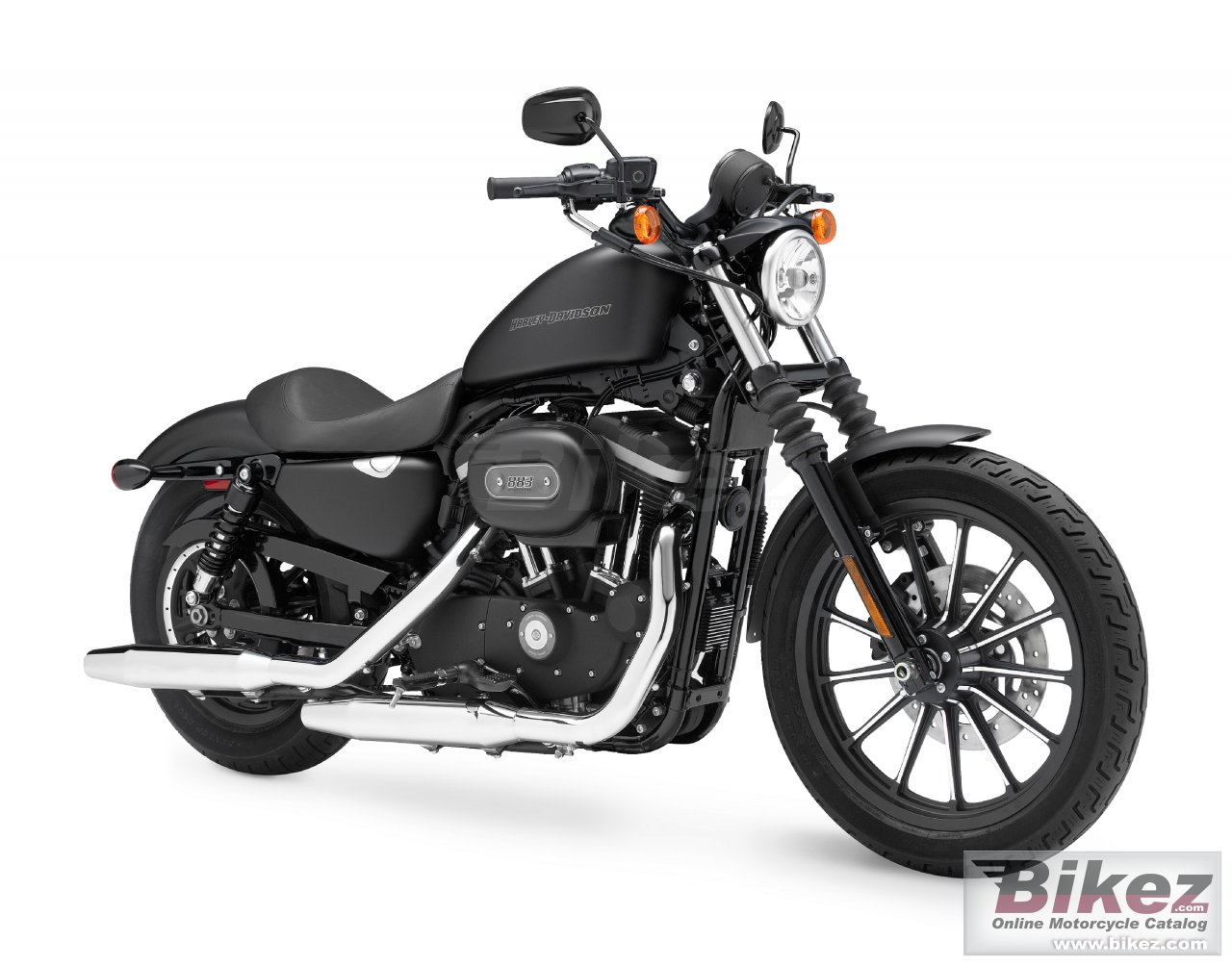 Big Harley-Davidson sportster xl883n iron 833 picture and wallpaper from Bikez.com