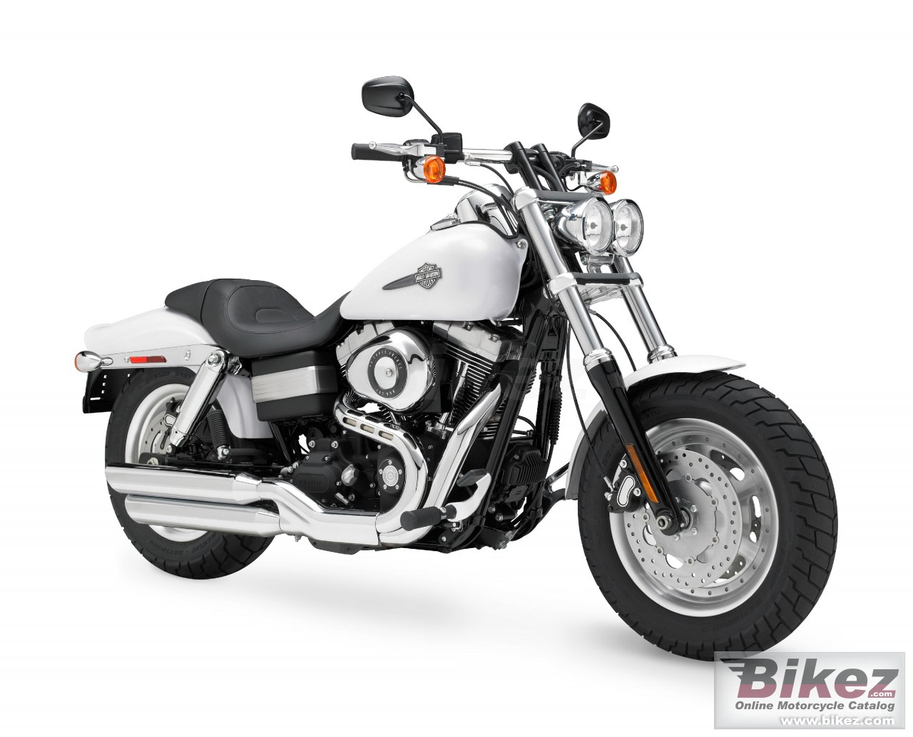 Big Harley-Davidson fxdf fat bob picture and wallpaper from Bikez.com