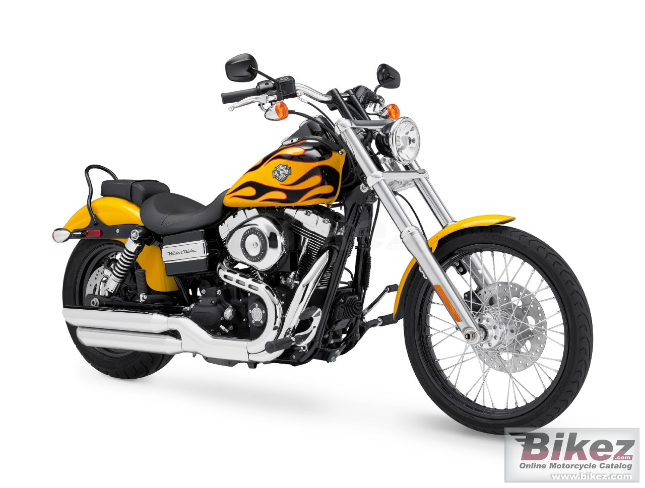 Big Harley-Davidson fxdwg dyna wide glide picture and wallpaper from Bikez.com