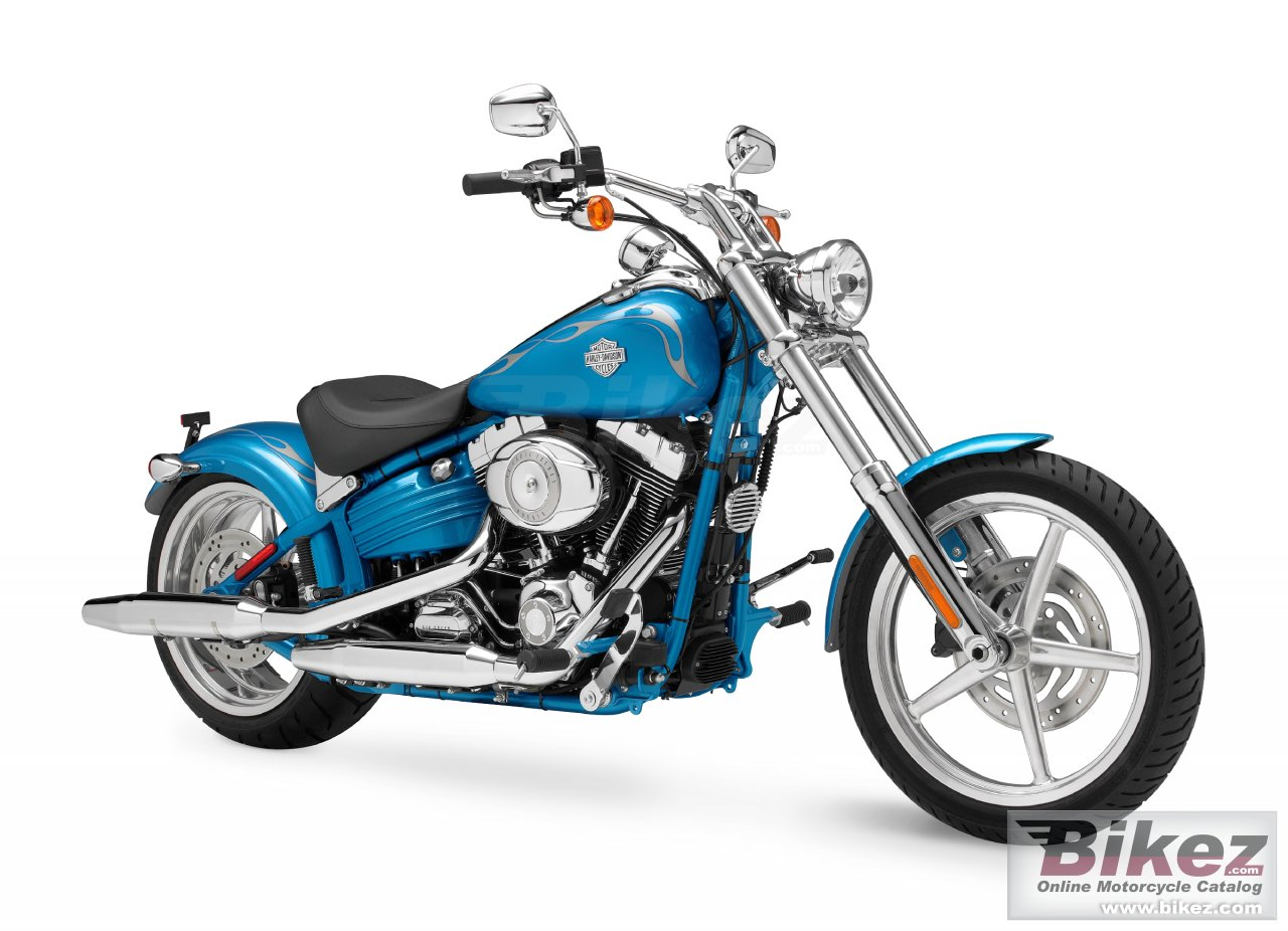 Big Harley-Davidson fxcwc softail rocker c picture and wallpaper from Bikez.com