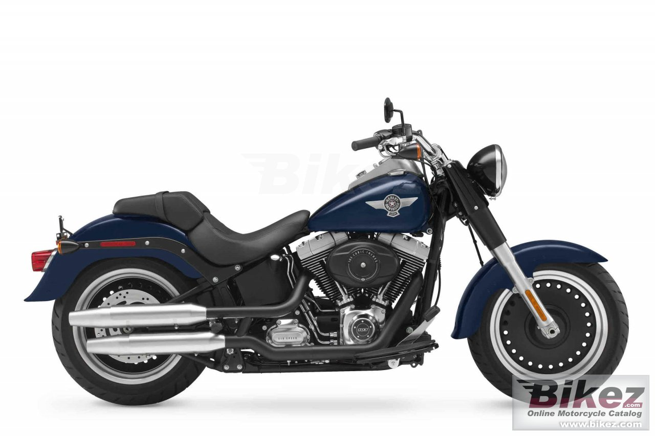 Big Harley-Davidson flstfb softail fat boy lo picture and wallpaper from Bikez.com