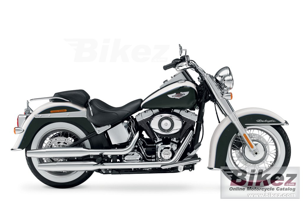 Big Harley-Davidson flstn softail deluxe picture and wallpaper from Bikez.com