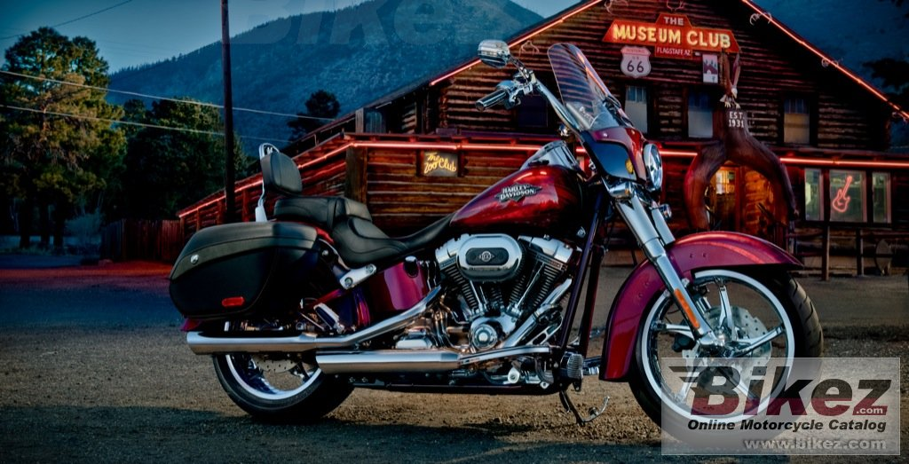 Big Harley-Davidson flstse3 cvo softail convertible picture and wallpaper from Bikez.com