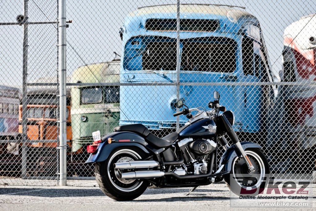 Big Harley-Davidson flstfb fat boy special picture and wallpaper from Bikez.com