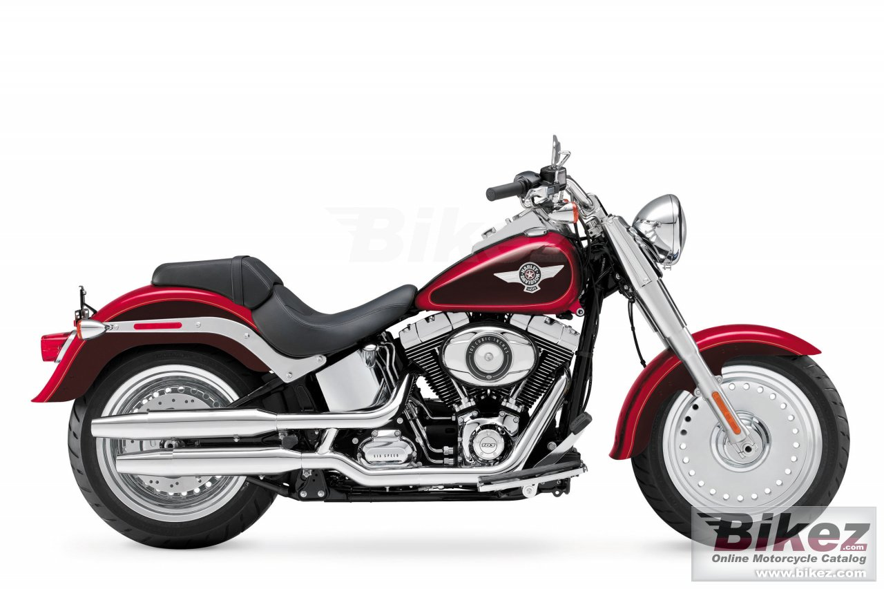 Big Harley-Davidson softail fat boy picture and wallpaper from Bikez.com
