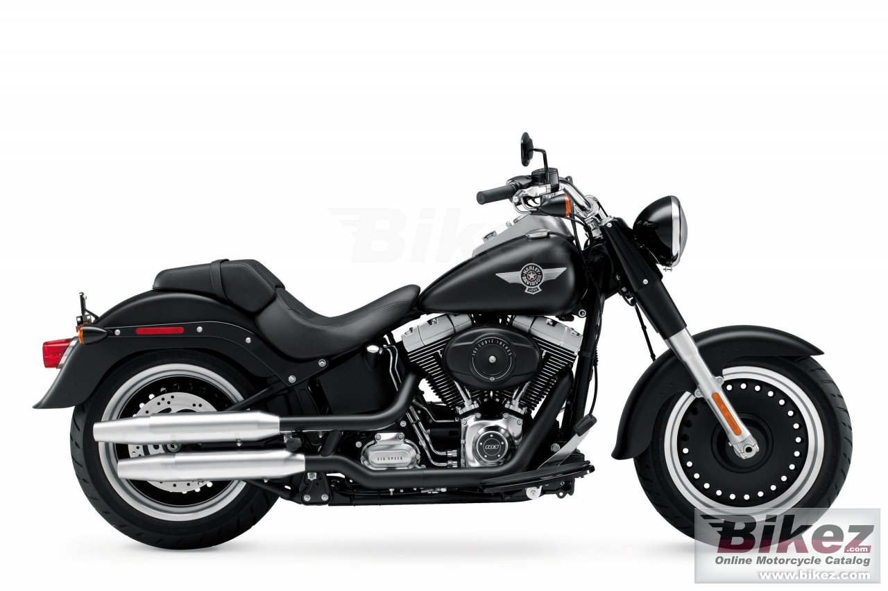 Big Harley-Davidson softail fat boy lo picture and wallpaper from Bikez.com