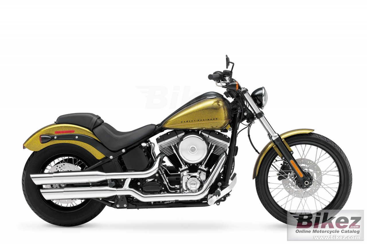 Big Harley-Davidson softail blackline picture and wallpaper from Bikez.com