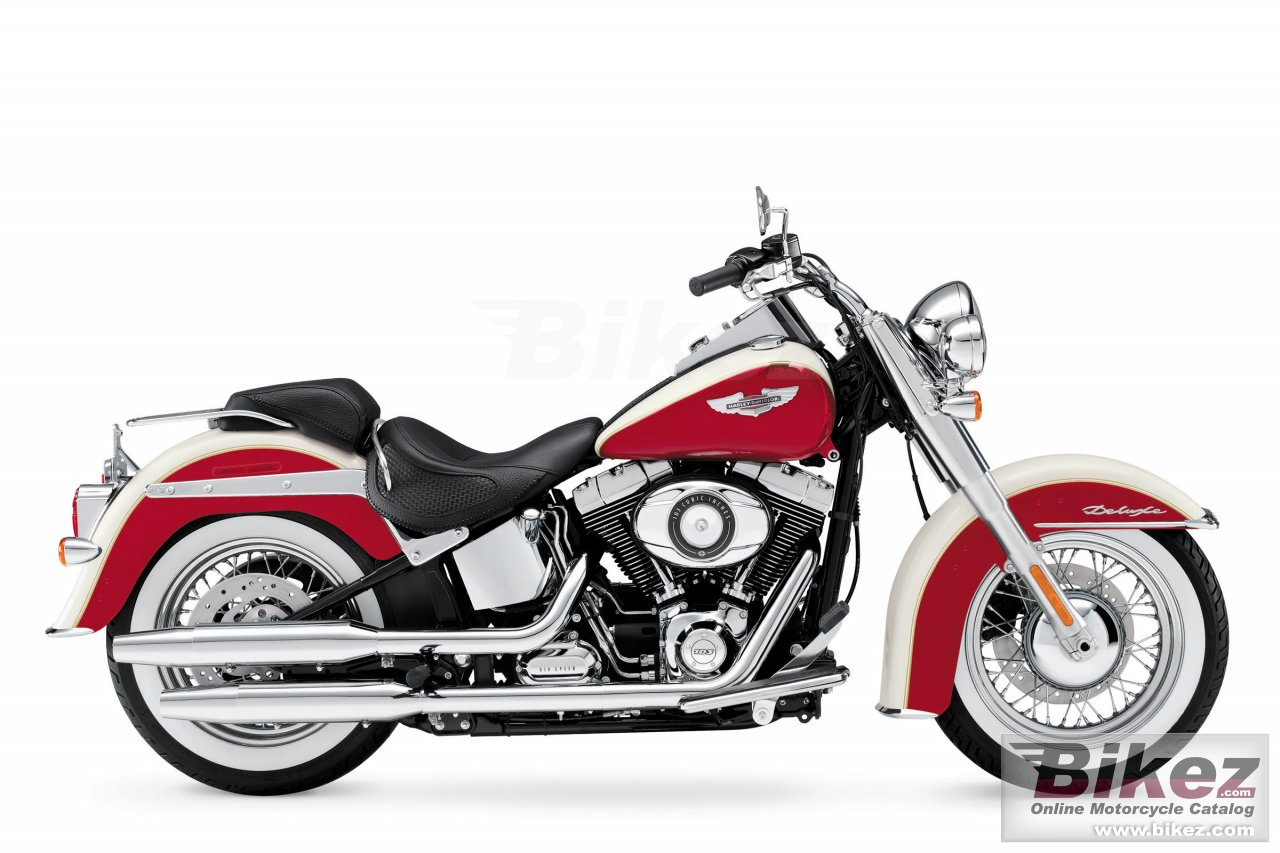 Big Harley-Davidson softail deluxe picture and wallpaper from Bikez.com
