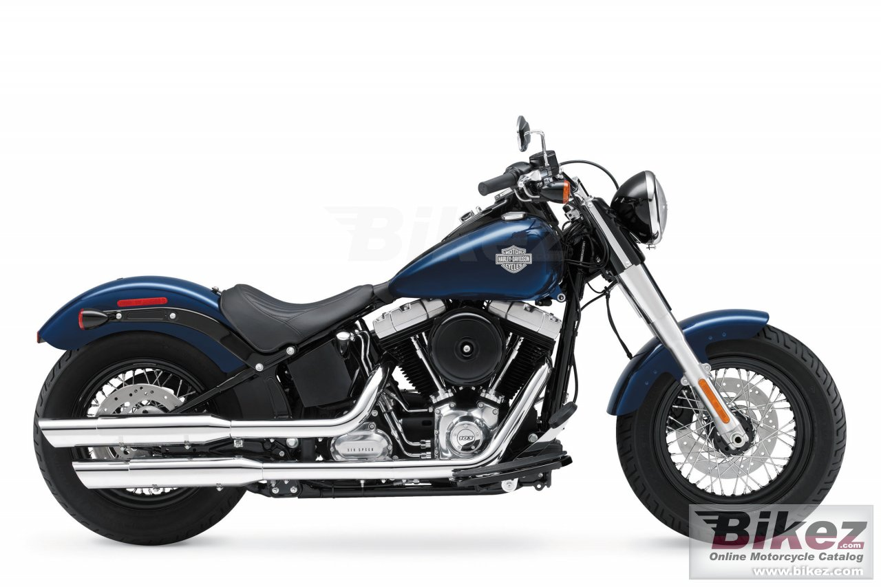 Big Harley-Davidson softail slim picture and wallpaper from Bikez.com
