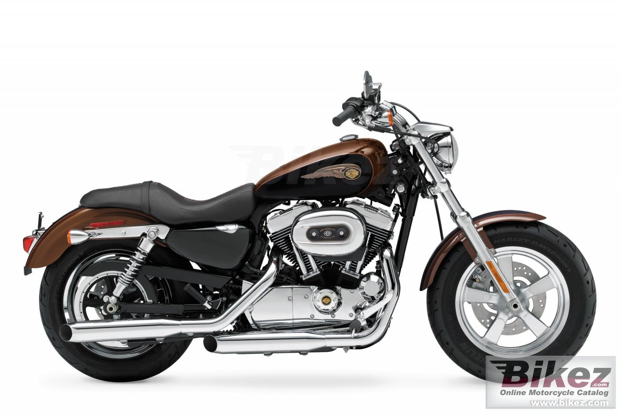 Big Harley-Davidson 1200 custom 110th anniversary picture and wallpaper from Bikez.com