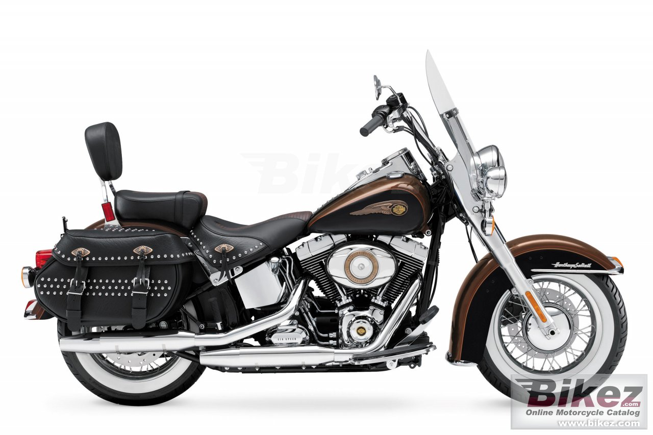 Big Harley-Davidson heritage softail classic 110th anniversary picture and wallpaper from Bikez.com