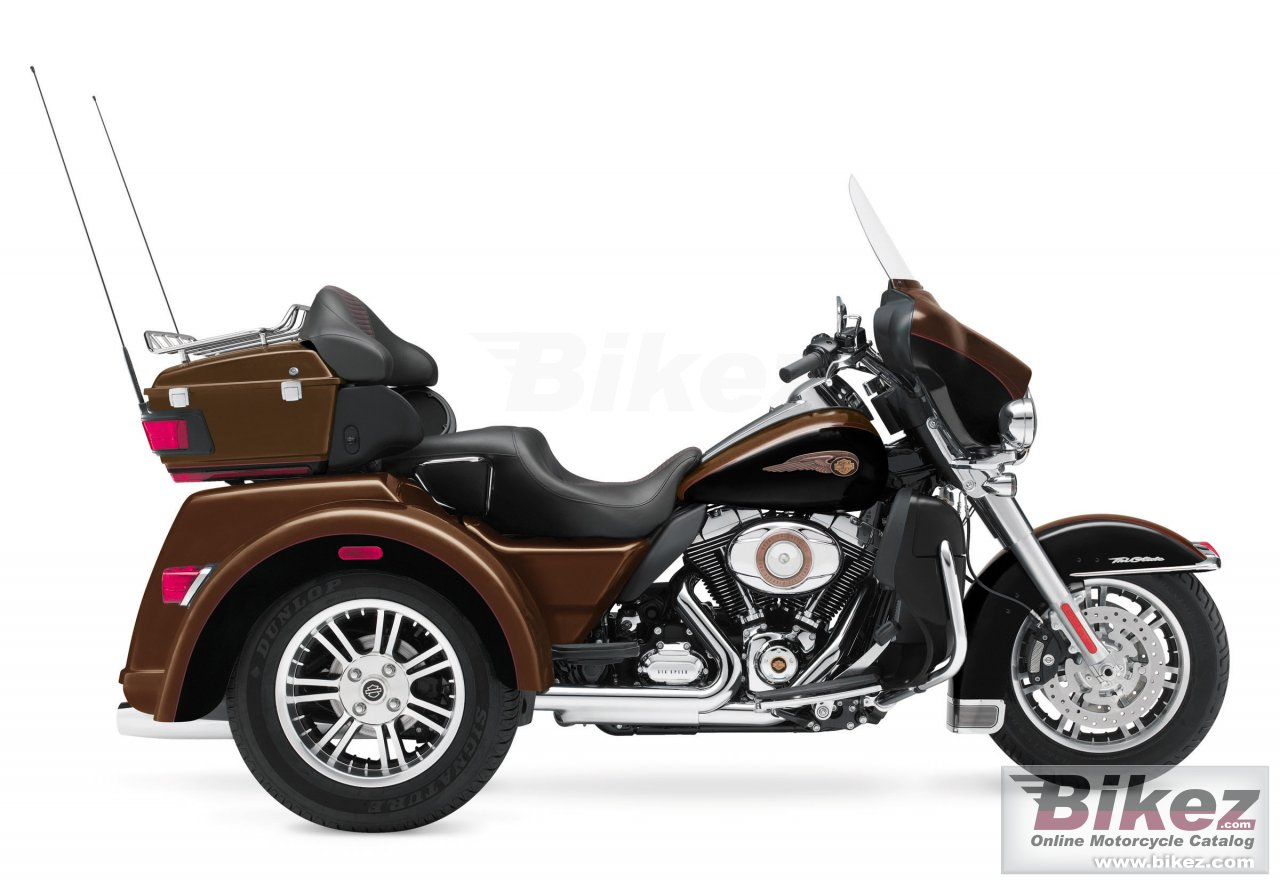 Big Harley-Davidson tri glide ultra classic 110th anniversary picture and wallpaper from Bikez.com