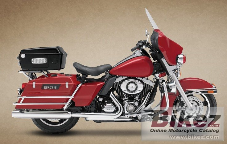 Big Harley-Davidson electra glide fire - rescue picture and wallpaper from Bikez.com
