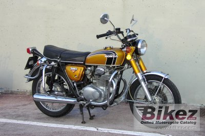 1974 Honda CB 350 disc photo