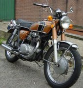1974 Honda CB 250 disc photo