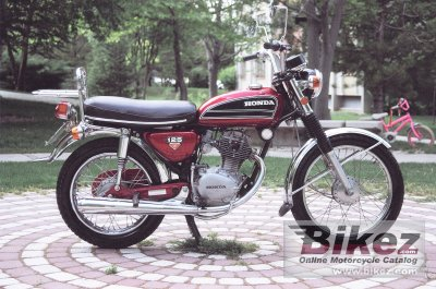 1974 honda cb 125 ss specifications and pictures. Black Bedroom Furniture Sets. Home Design Ideas