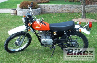 1976 honda xl 125 specifications and pictures. Black Bedroom Furniture Sets. Home Design Ideas