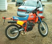 1985 Honda XL 250 R (reduced effect)