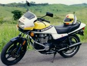 1986 Honda CB 450 S (reduced effect)