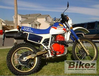 1986 honda xl 600 r specifications and pictures. Black Bedroom Furniture Sets. Home Design Ideas