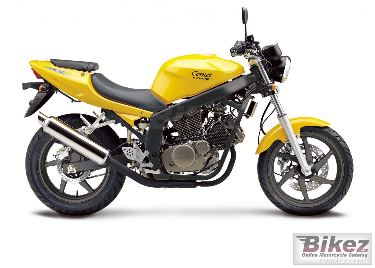 Big Hyosung gt 125 picture and wallpaper from Bikez.com
