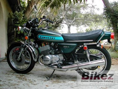 1974 Kawasaki 400 S 3 Mach II specifications and pictures
