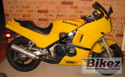 1985 Kawasaki GPZ 600 R (reduced effect)