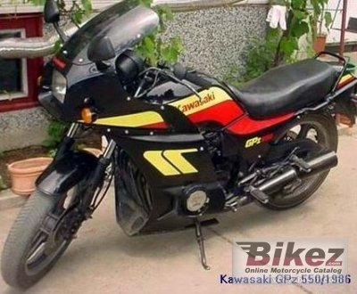 1986 Kawasaki GPZ 550