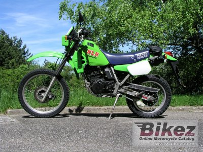 1986 Kawasaki KLR 250 specifications and pictures