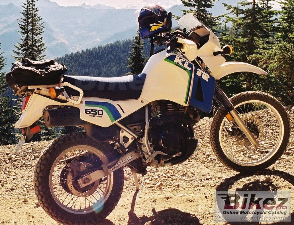 Big all gilbert klr 650 picture and wallpaper from Bikez.com